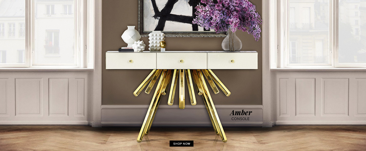 Amber Contemporary Console Table by Bitangra Furniture Design