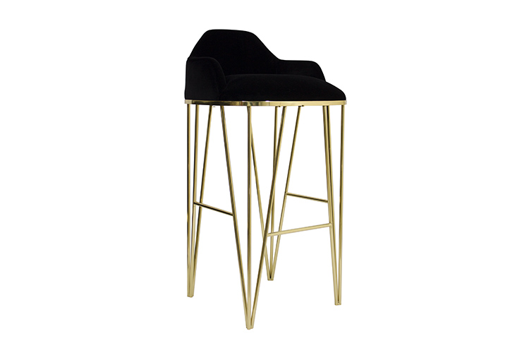 Hurricane Luxury Contemporary Counter Bar Stool Br Gold