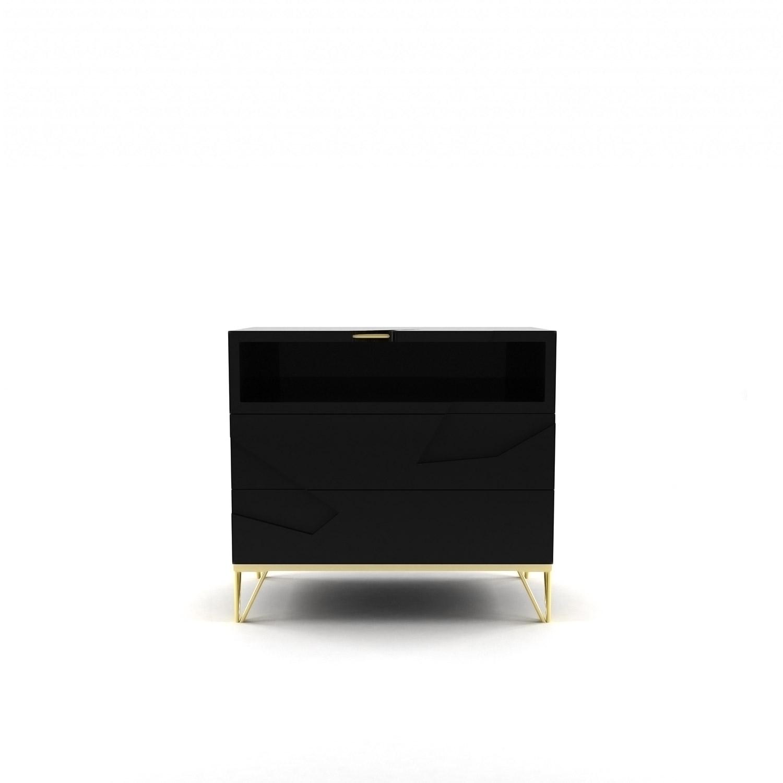 ashley contemporary nightstand upscale consignment santana  - nightstand bitangra