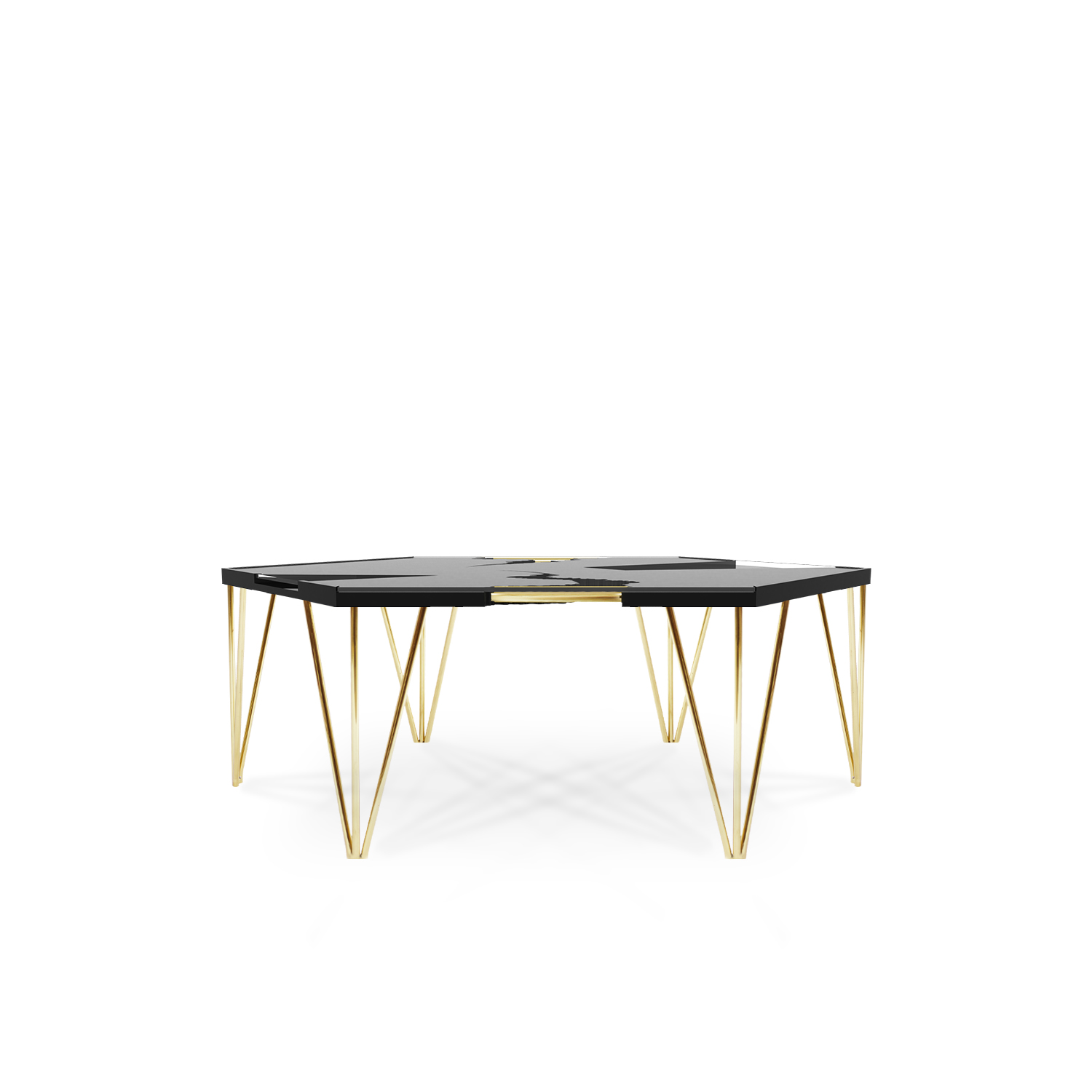 Curio Coffee Table Images Small Dining Room Decorating  : hurricane contemporary center coffee table polished brass black lacquered wood tempered glass bitangra furniture design 01 from favefaves.com size 1500 x 1500 jpeg 273kB